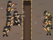 اكشن حرب الجيوش القوية: tiny rifles