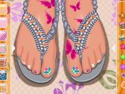 البنات 2020: toe nail design