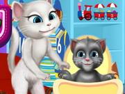 تربية القط الصغير توم