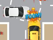 السيارة المجنونة في الطريق المزدحم: traffic car