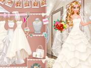 تلبيس عرائس فساتين زفاف حقيقية ومكياج