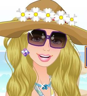 تلبيس باربي على الشاطئ الرملي 2