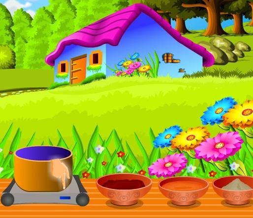 طبخ باربي في الحديقة