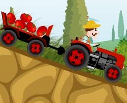 جرار المزرعة وتوصيل المحاصيل