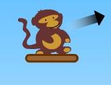 تفجير البالونات القرد