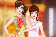 تلبيس بنات صينيات جميلات