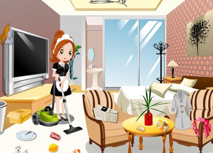 تنظيف كل غرف الفندق