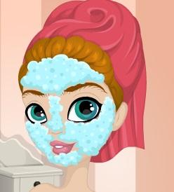 تلبيس ملكة جمال الماس ومكياج وقص الشعر وتنظيف الوجه والبشرة