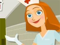 الممرضة تعطى الحقن
