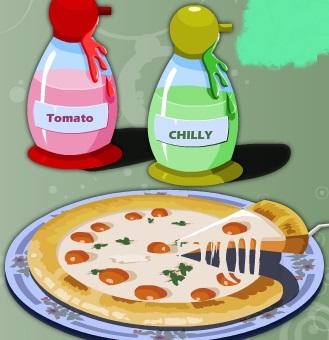 تحضير البيتزا فى المطعم