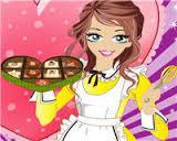 طبخ الحلويات وصنع كيكة حلويات شوكولاتة