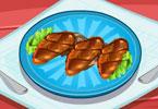 طبخ الدجاج المشوي على الفحم