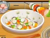 طبخ الكباب مع الطباخة الماهرة