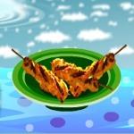طبخ الكباب بالدجاج