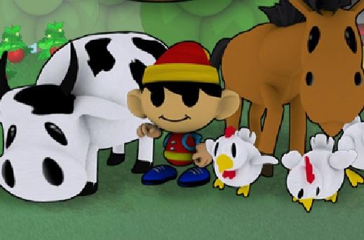 المزارع الصغير وزراعه زهور و ورد وتربية الحيوانات