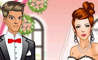 تلبيس العريس والعروسة للبنات