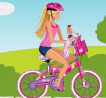باربى وركوب الدراجة