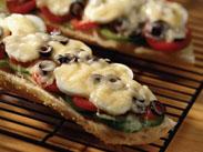 طبخ بيتزا الخبز الفرنسي
