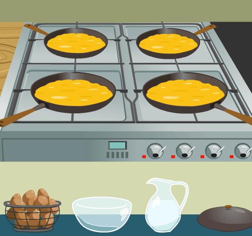 الطبخ بيض اومليت