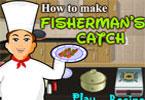 طبخ السمك في المطعم