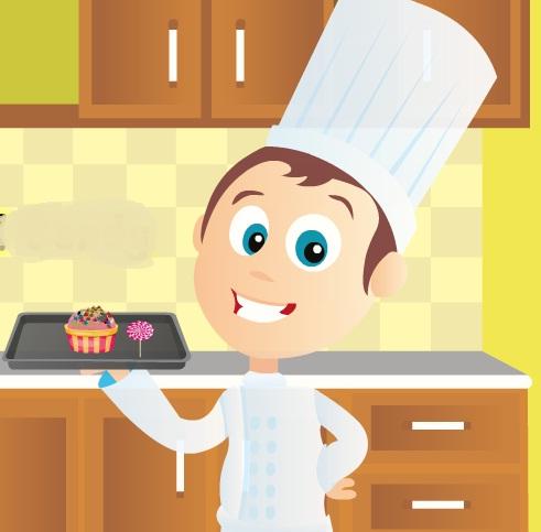 طبخ الكب كيك والحلويات