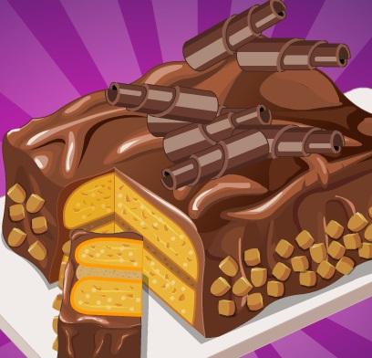 طبخ الكيك بالشوكولاتة مع سارة