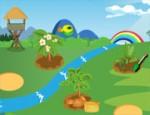 مزرعة الخضروات والحيوانات