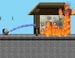 اطفاء الحريق وانقاذ الناس