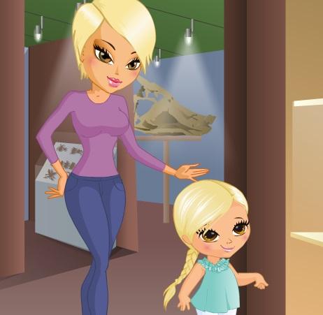 تلبيس الام وابنتها الصغيرة جدا