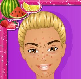 تنظيف بشرة باربي بخلطة الفواكه