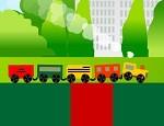 تصليح طريق قطار الملاهي