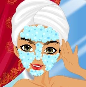 تنظيف وجه وبشرة الهنديين