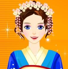 تلبيس بنات ملابس يابانية