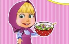 طبخ ماشا سلطة خضراء