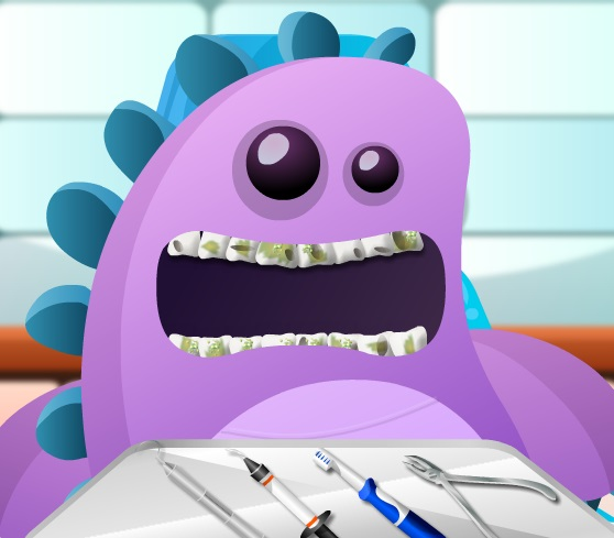 تنظيف اسنان الحيوانات المفترسة والوحوش