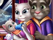 تغذية طفل توم وأنجيلا الرضيع