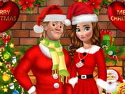 انا وكريستوف في الكريسماس