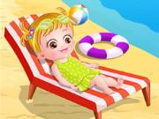 بيبي هازل على شاطئ البحر