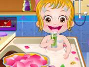 حمام الطفل عسلي الملكي