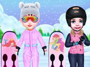 تلبيس اولاد ملابس رياضية- التزلج