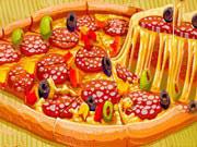 بيتزا الخبز