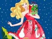 تلبيس باربي ملابس الكريسماس