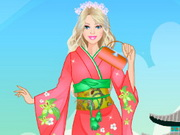 تلبيس باربي ملابس يابانية