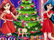 اميرات ديزني شجرة عيد الميلاد المجيد