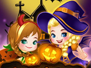 elsa and anna halloween story