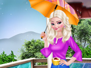 أزياء إلسا يوم المطر