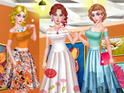 تلبيس ثلاث بنات عارضات ازياء