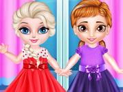 فستان الاميرة الاخوات الصغيرة