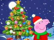 تزيين شجرة عيد الميلاد- بيبا الخنزير
