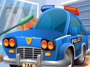 تنظيف سيارة الشرطة
